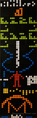 Arecibo message as a 2d LEGO Mosaic