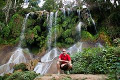 Me at El Nicho (Cuba) (tesKing (Italy)) Tags: waterfall cuba io elnicho