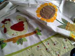 panos!!! (Dipano Ateli) Tags: de galinha pano patchwork prato cozinha jogos tecido aplicao apliqu dipano