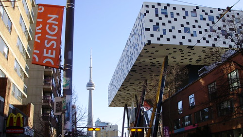 CN Tower and the Ontario College of Art and Design