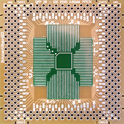 SchmartBoard - 202-0010-02 - QFP 36-100 Pins 0.65mm Pitch 2in X 2in Grid EZ Version