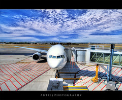 I'm so Ready to Go Onboard Again! :) :: HDR (Artie | Photography :: I'm a lazy boy :)) Tags: photoshop plane canon airport cs2 australia wideangle machinery international handheld adelaide sa boeing 1020mm qantas southaustralia hdr 767 artie 3xp sigmalens photomatix adelaideairport tonemapping tonemap 400d rebelxti