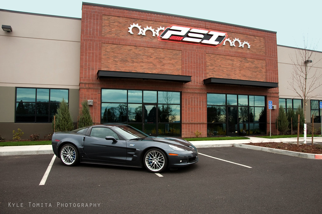 Corvette ZR-1 in front of PSI 3