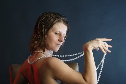 Pearls and Drapery