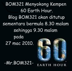 BOM321 Menyokong Kempen Earth Hour (8.30PM 27 March 2010)