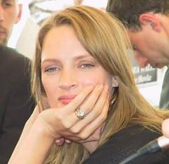 Uma Thurman sorridente al Festival di Cannes