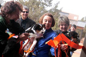 Ribbon-cutting ceremony for new puppy care center at Best Friends Animal Sanctuary