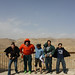Fun in the wind at Masada: Debbie Vasquez, Lucas Schrock-Hurst, Kaitlin Heatwole, Nathan Hershberger, Jason Sprunger