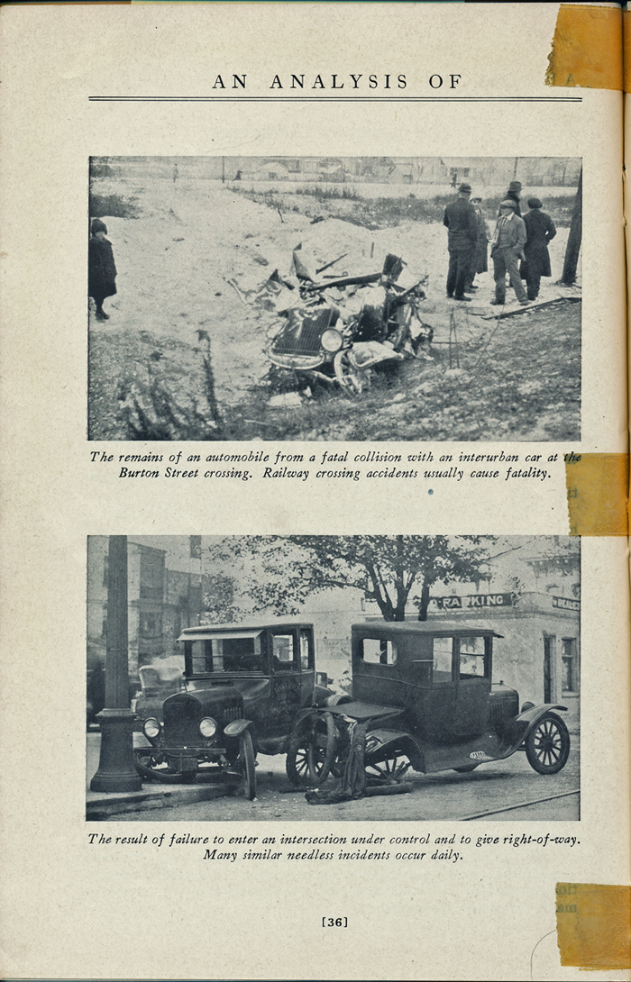 THINK - Grand Rapids automobile guide from 1925 - Accident photos
