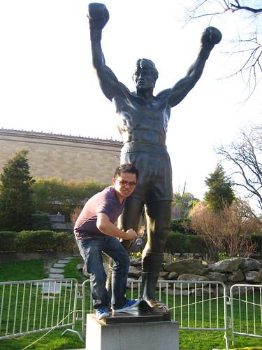 Statue of Rocky Balboa at Philadelphia Museum of Art