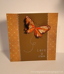Mother Day Butterfly Card