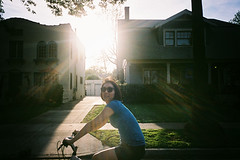 ( Sean Marc Lee ) Tags: sun green film bike fuji superia riding 400 ricoh gr1 xtra yumichan thelastdays backlitbythemoon springtimesslipping