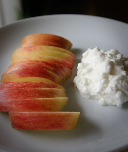 Apples and cottage cheese