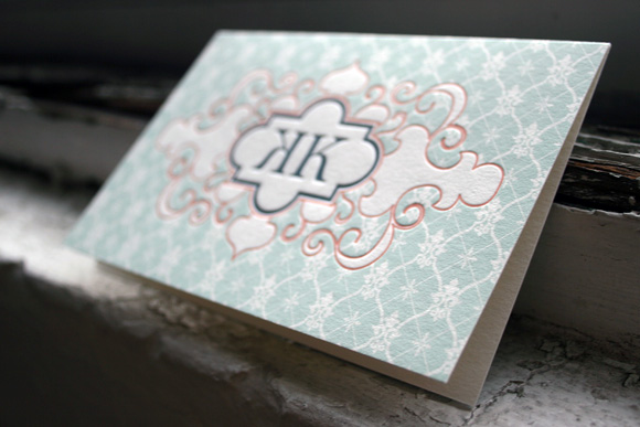 Custom Letterpress Social Notes