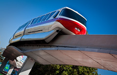 Red White & Blue (DugJax) Tags: monorail waltdisneyworld epcotcenter thelivingseas futureworld monorailred efs1755mmf28isusm canonrebelxsi