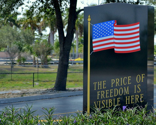 The visible price of freedom....
