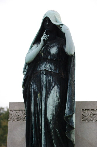 Lady with a veil, Elmwood Cemetery, Memphis, Tenn.