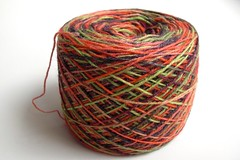 Erdbeerfeld by Bea's Farben, 60% wool 20% silk 20% bamboo, 420m