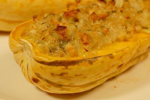 Nut & Sage Stuffed Delicata Squash by Eve Fox, Garden of Eating blog