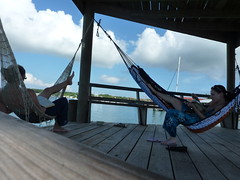 A lazy day for me and Maree... reading in hammocks.