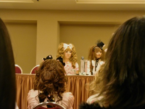 Maki and Asuka at the Angelic Pretty panel