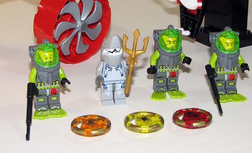 LEGO Atlantis - Minfigs from 8056, 8058, 8060