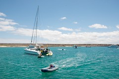 galapagoslandscape galapagosyachts baltrasisland zodiacdinghies inflatabledinghies galapagosseascape galapagoscruising