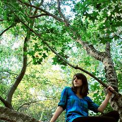 The Trees Never Sleep (Amanda) Tags: selfportrait tree green me nature girl beautiful forest self endless treeclimbing climbingtrees