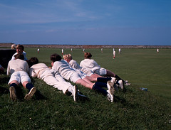 Loretto School cricket spectators. (Mark Draisey Photography) Tags: school college education uniform posh schooluniform boardingschool loretto privateschool publicschool schoolboys upperclass cricketmatch independentschool privileged lorettoschool britisheducation britishpublicschools