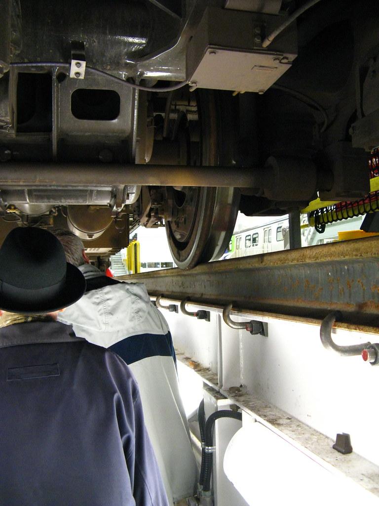 Underneath Canada Line Train