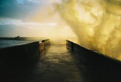 Brighton Marina wall (lomokev) Tags: sea yellow marina gold lomo lca lomography brighton kodak perspective kodakportra400vc lomolca splash portra lomograph kodakportra400 brightonmarina kodakportra deletetag file:name=091127lomolcavc098 roll:name=091127lomolcavc brightonmarinawall image:selection=tn image:selection=tombing yahoo:yourpictures=autumn yahoo:yourpictures=storms