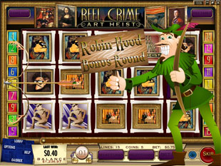 free Reel Crime 2 Art Heist slot bonus game