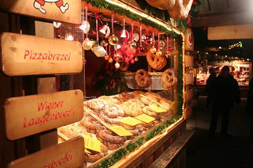 pretzels at the Rathaus Christmas market