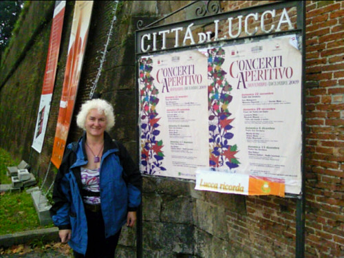 Me at Lucca town walls