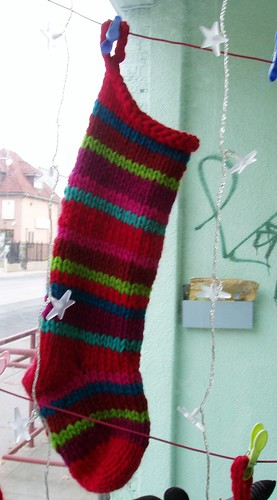 x-mas stocking stripes by you.