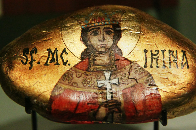 Painted stone - Saint Martyr Irene