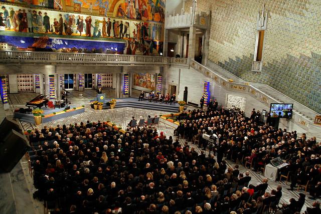 Fredsprisen - Nobels Fredspris 2010 deles ut i Oslo Rådhus 10. desember.