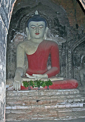 Peace and joy. Red Buddha Burma, Photo © Sir John Aske