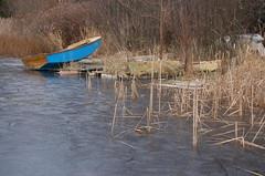 Icy Blue Boat (PJ Peterson) Tags: frozenlake kitsapcounty bucklake hansvillewashington
