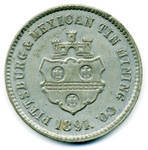 Pittsburg & Mexican Tin Mining Co. Medal obverse