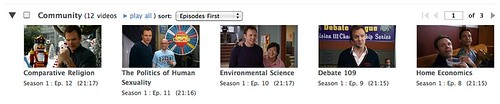 Hulu Queue Thumbnail View