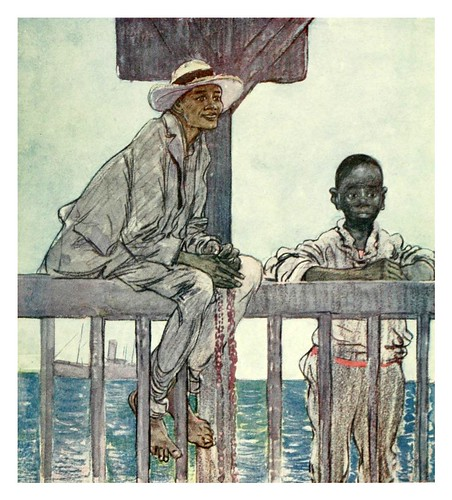 009-Niños buceadores de Kingston Jamaica-The West Indies 1905- Ilustrations Archibald Stevenson Forrest