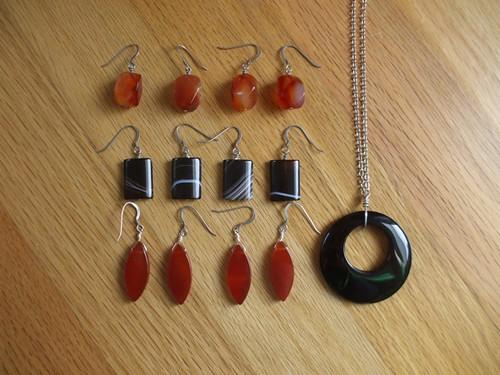 earrings and pendant for Pearl's teachers