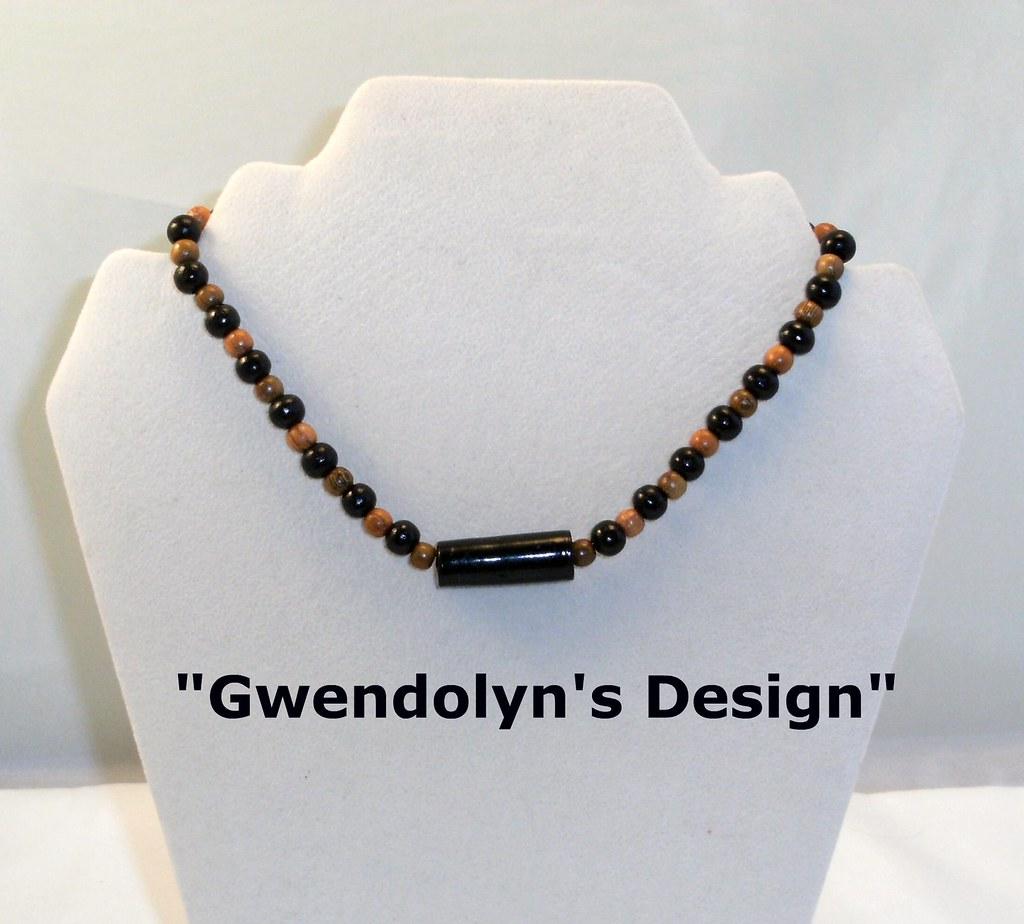 Unisex Choker with Black tube bead
