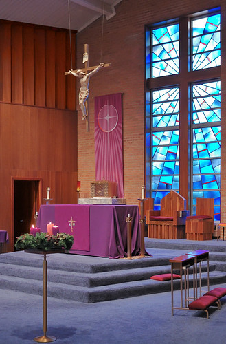 Immaculate Conception Roman Catholic Church, in Park Hills, Missouri, USA - sanctuary
