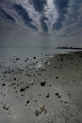 Khobar Cornish (Abdullah Al-Gazlan) Tags: blue sea sky sun black clouds sand cloudy gray saudi arabia sands hdr cornish dhahran  khobar           kobar
