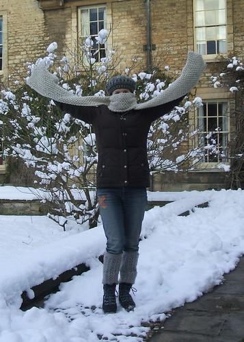 Moss stitch scarf