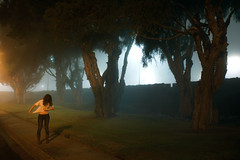 Foggy Los Angeles Town (laurenlemon) Tags: street me fog night losangeles interestingness streetlight empty january explore frontpage 2010 explored canoneos5dmarkii laurenrandolph laurenlemon wwwphotolaurencom