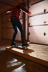 Good ol' garage sesh (Justin.photo) Tags: lighting christmas boy man guy sports backlight matt photography lights intense skateboarding action garage flash skating jeans fallen skateboard skater backlit brand vivitar backlighting