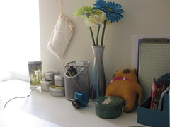 The Home Studio.. (sandy_pants) Tags: inspiration art home cat painting studio design desk sewing space craft fabric